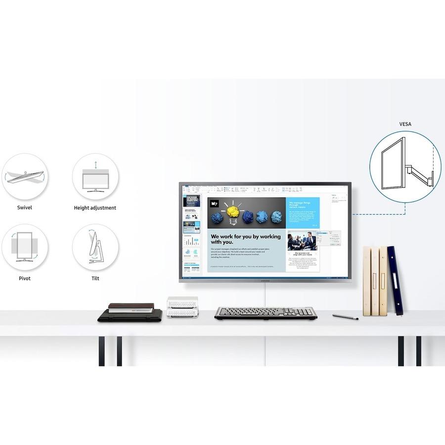 "Samsung U32H850UMN 31.5"" 4K UHD Quantum Dot LED LCD Monitor - 16:9 - Black, Silver_subImage_19"