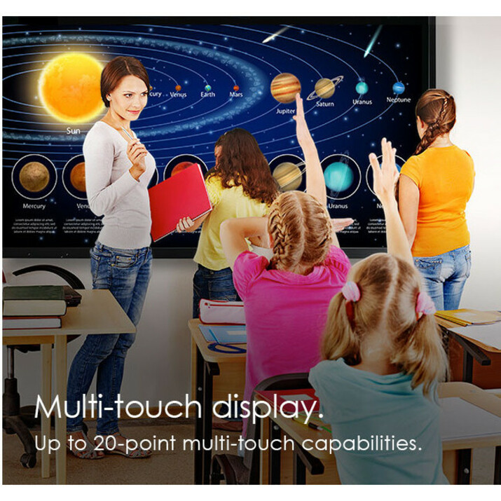 """Optoma Creative Touch OP751RK All-in-One Computer - ARM Cortex A73 - 2 GB RAM - 16 GB Flash Memory Capacity - 75"""" 3840 x 2160 Touchscreen Display - Desktop_subImage_20"""
