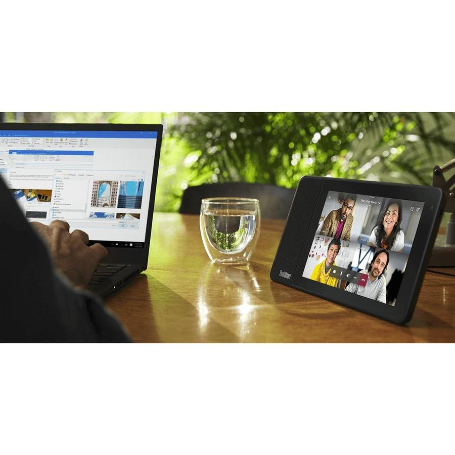 "Lenovo ThinkSmart View ZA840013US Tablet - 8"" HD - 2 GB RAM - 8 GB Storage - Android 8.1 Oreo - Business Black_subImage_18"