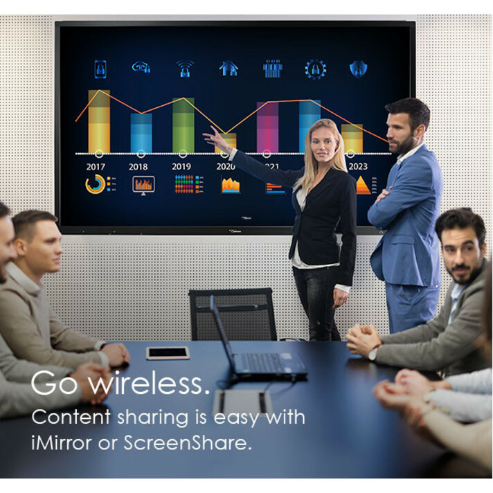 """Optoma Creative Touch OP751RK All-in-One Computer - ARM Cortex A73 - 2 GB RAM - 16 GB Flash Memory Capacity - 75"""" 3840 x 2160 Touchscreen Display - Desktop_subImage_21"""