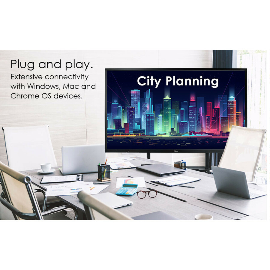 """Optoma Creative Touch OP751RK All-in-One Computer - ARM Cortex A73 - 2 GB RAM - 16 GB Flash Memory Capacity - 75"""" 3840 x 2160 Touchscreen Display - Desktop_subImage_23"""