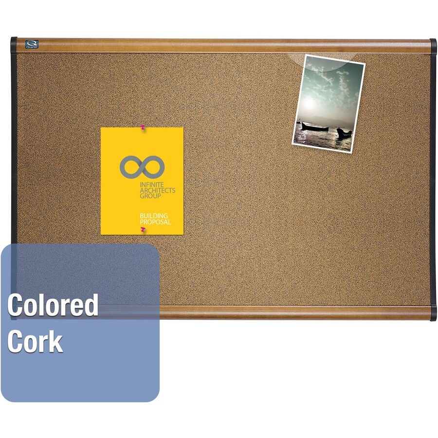 Quartet prestige colored cork bulletin board qrtb247ma for How to make a bulletin board without cork