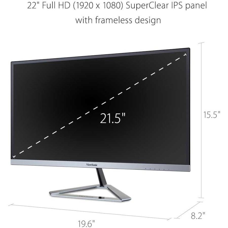 "Viewsonic VX2276-smhd 22"" Full HD LED LCD Monitor - 16:10 - Silver_subImage_9"