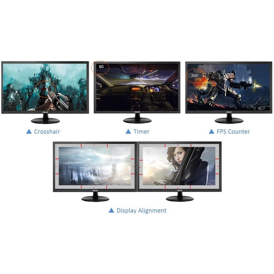 "Asus VP247QG 23.6"" Full HD WLED Gaming LCD Monitor - 16:9 - Black_subImage_6"