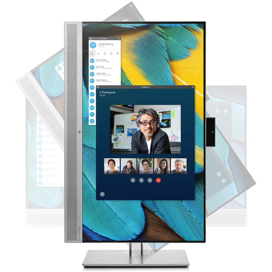 """HP Business E243m 23.8"""" Full HD WLED LCD Monitor - 16:9 - Black, Silver_subImage_8"""