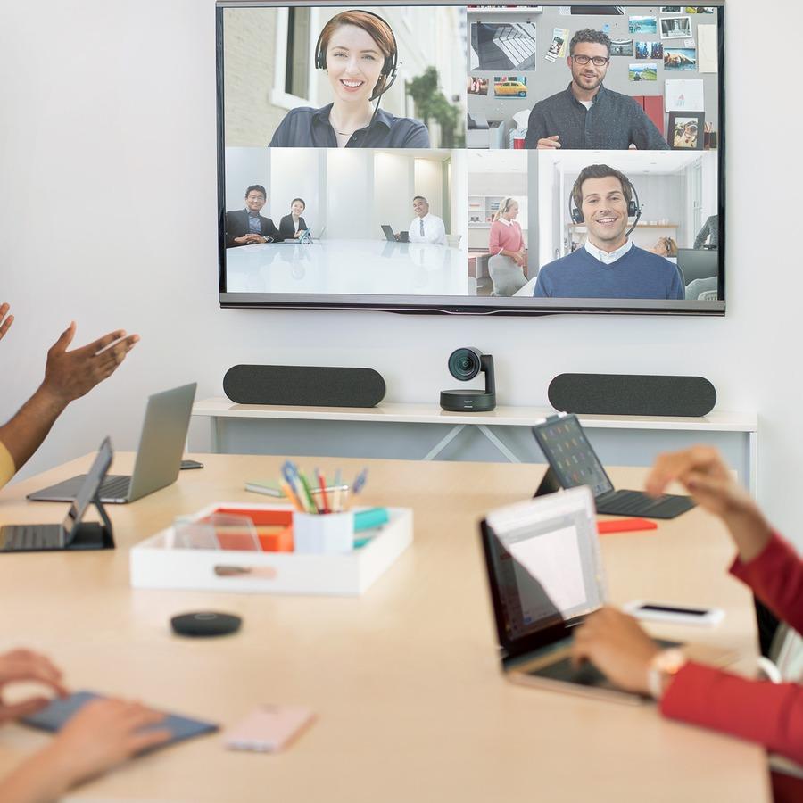 Logitech Video Conferencing Camera - 13 Megapixel - 60 fps - Matte Black, Slate Gray - USB 3.0_subImage_3