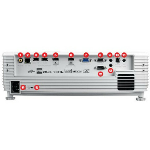 Optoma EH512 3D DLP Projector - 16:9 - White_subImage_9