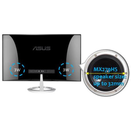 "Asus Designo MX279HS 27"" Full HD WLED LCD Monitor - 16:9 - Silver, Black_subImage_6"