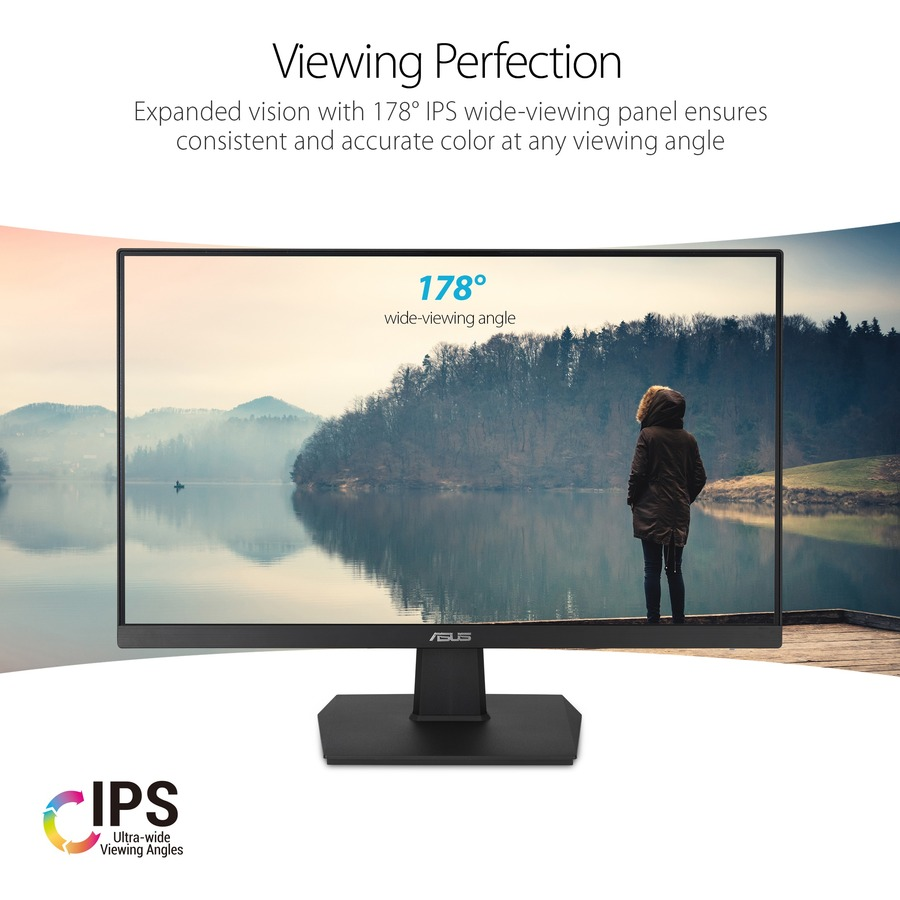 "Asus VA24EHE 23.8"" Full HD WLED Gaming LCD Monitor - 16:9 - Black_subImage_6"