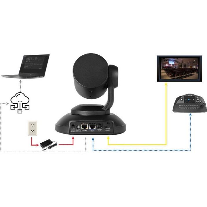 Vaddio PrimeSHOT Video Conferencing Camera - 2.1 Megapixel - 60 fps - Black_subImage_6