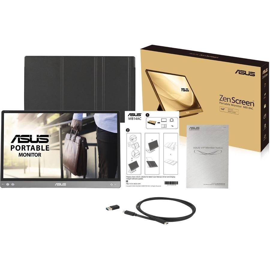 """Asus ZenScreen MB14AC 14"""" Full HD WLED LCD Monitor - 16:9 - Dark Gray_subImage_10"""