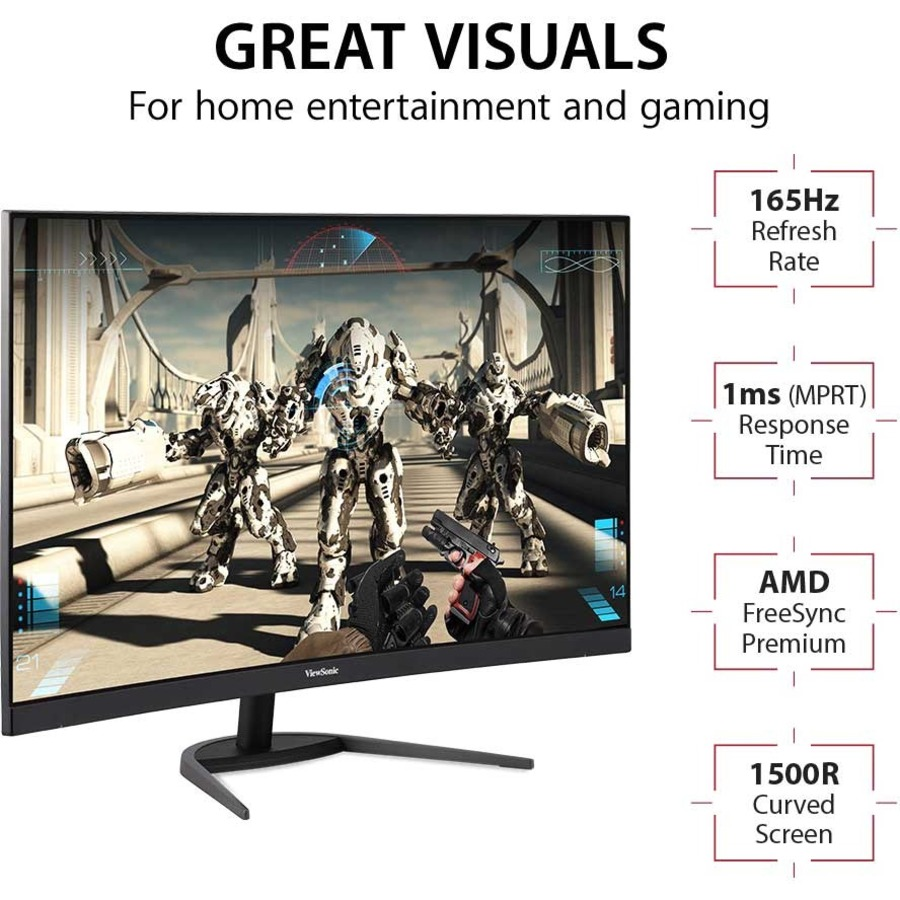 """Viewsonic VX3268-PC-MHD 31.5"""" Full HD Curved Screen LED Gaming LCD Monitor - 16:9_subImage_8"""