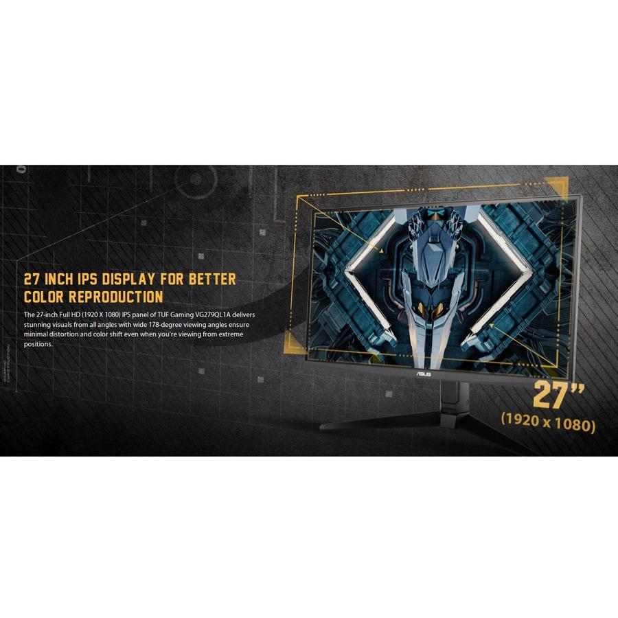 "TUF VG279QL1A 27"" Full HD WLED Gaming LCD Monitor - 16:9 - Black_subImage_8"