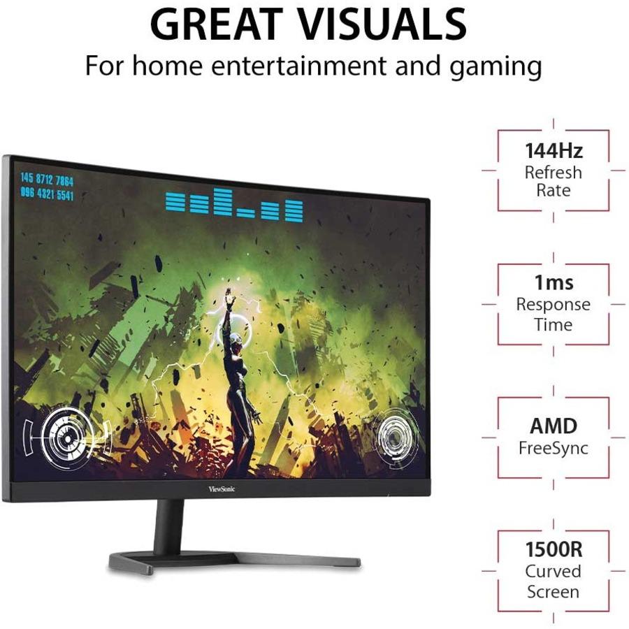 "Viewsonic VX2768-2KPC-MHD 27"" WQHD Curved Screen LED Gaming LCD Monitor - 16:9_subImage_8"