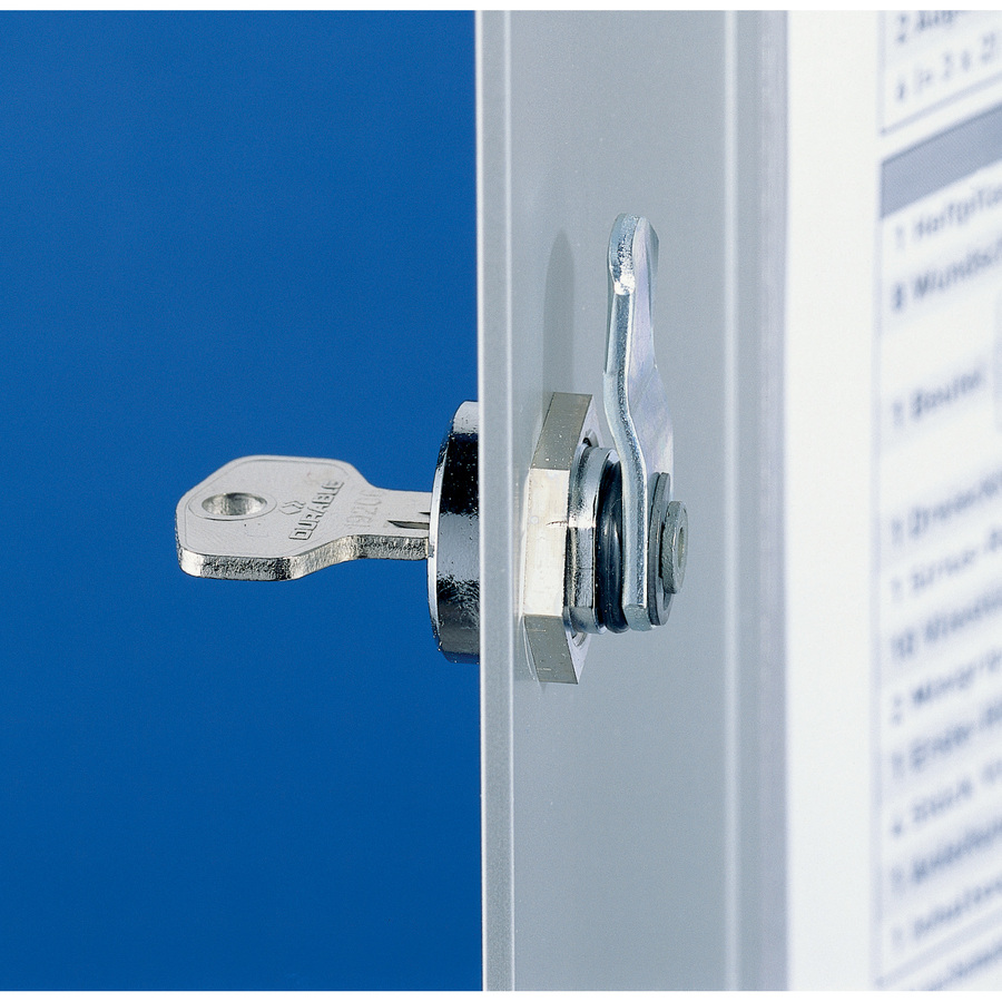 Durable 72-Key Brushed Aluminum Key Cabinet