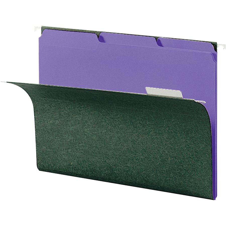 Smead Interior File Folder, 1/3-Cut Tab, Letter Size, Purple, 100 per Box (10283)