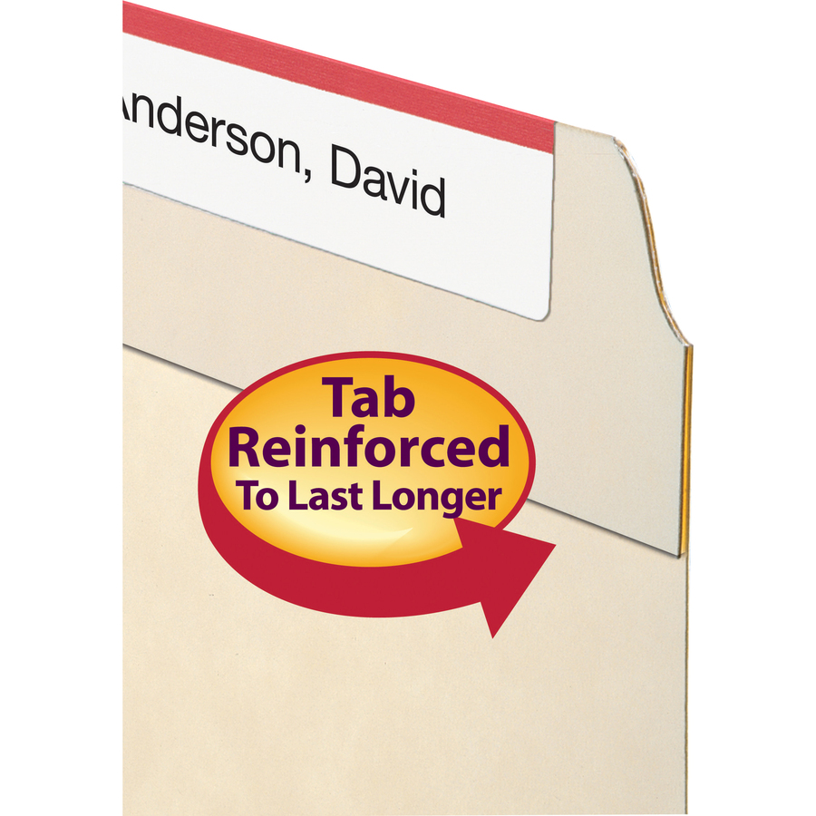 Smead WaterShed? File Folder, Reinforced 1/3-Cut Tab, Letter Size, Manila, 100 Per Box (10314)