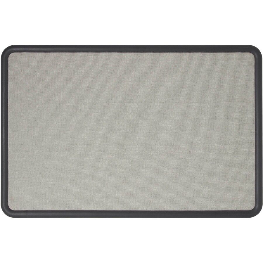 Quartet® Contour Fabric Bulletin Board, 4\' x 3\', Black Frame, Gray ...