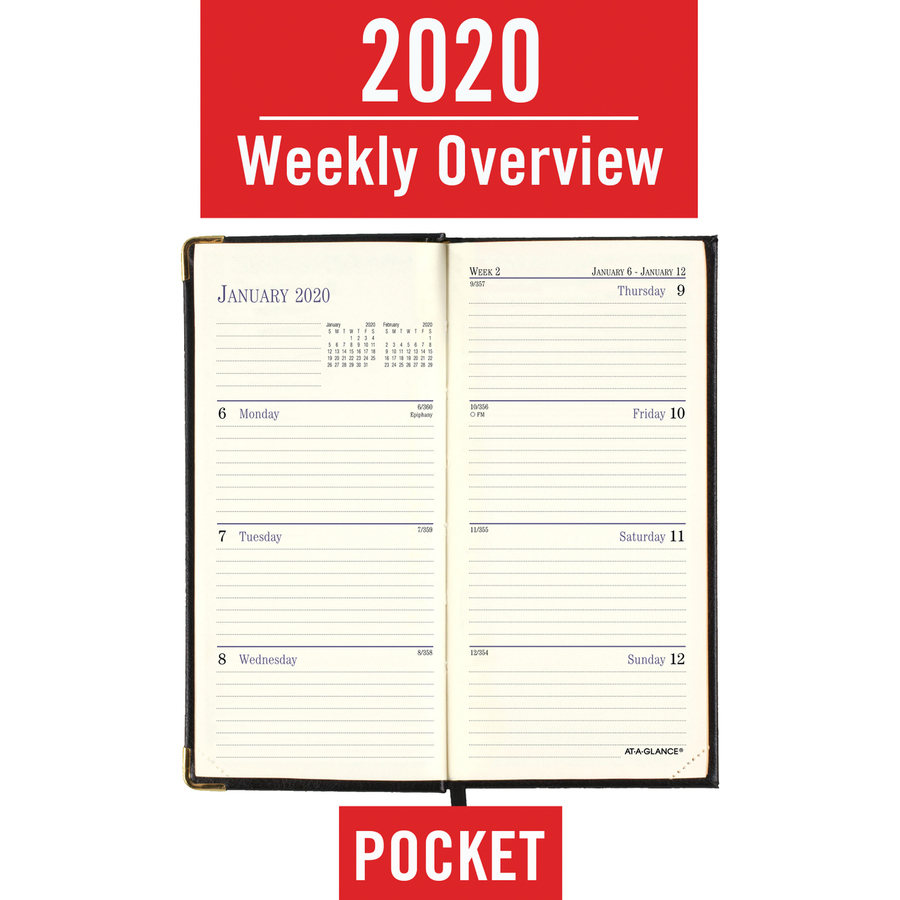 at a glance leather fine diary weekly monthly planner servmart