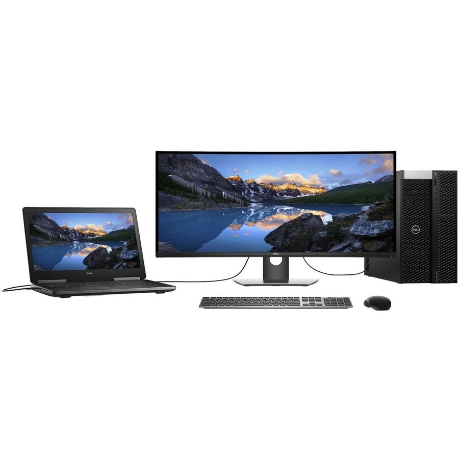 "Dell UltraSharp U3818DW 37.5"" UW-QHD+ Curved Screen Edge WLED LCD Monitor - 21:9 - Black_subImage_11"