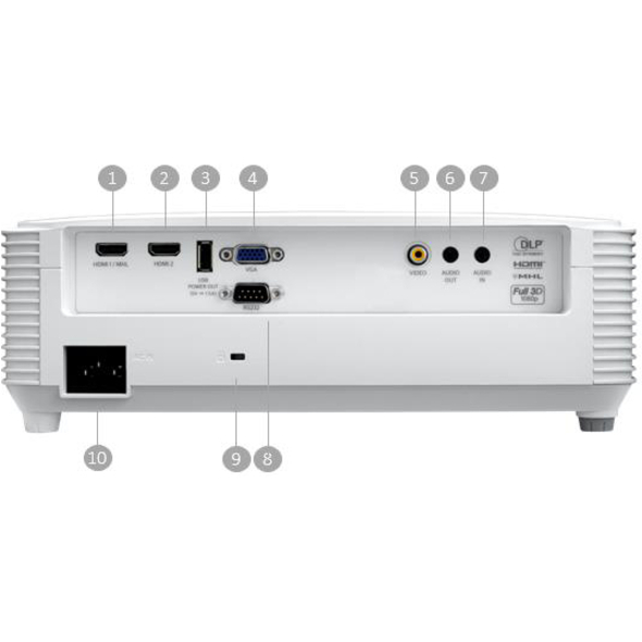 Optoma EH336 3D Ready DLP Projector - 16:9_subImage_10