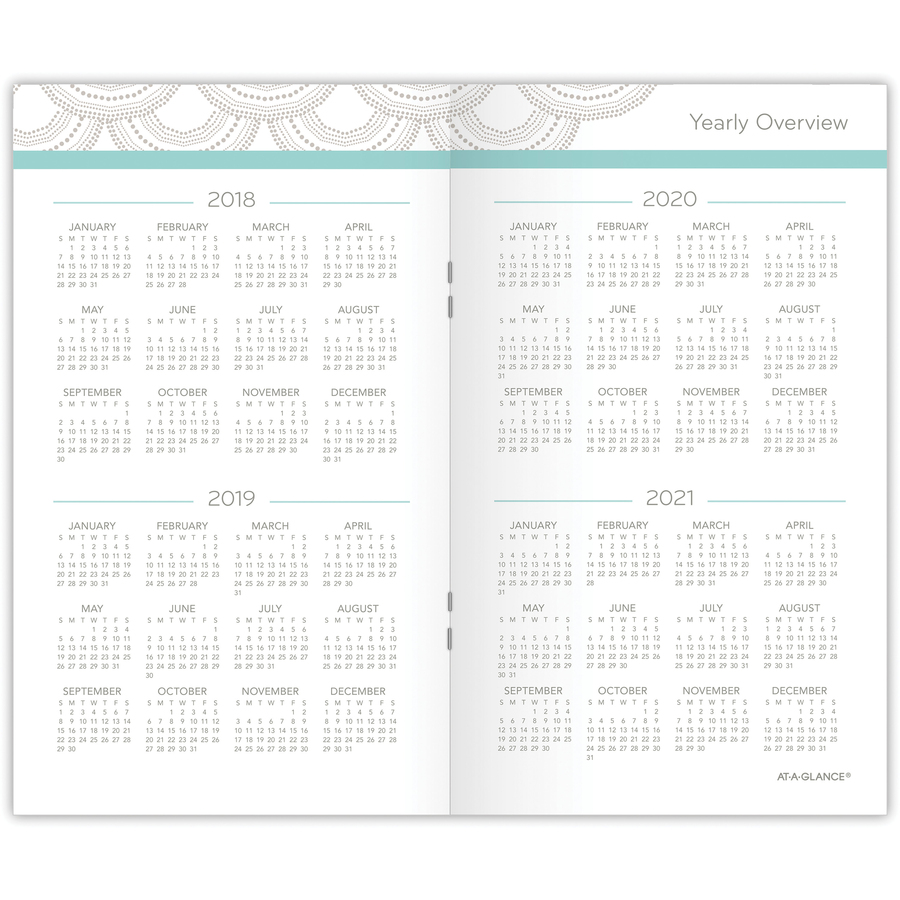 at a glance serene scallops 2 year pocket planner tierney office