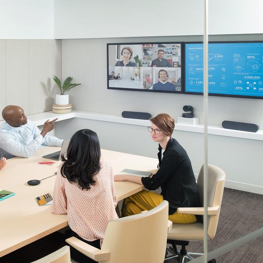 Logitech Video Conferencing Camera - 13 Megapixel - 60 fps - Matte Black, Slate Gray - USB 3.0_subImage_4