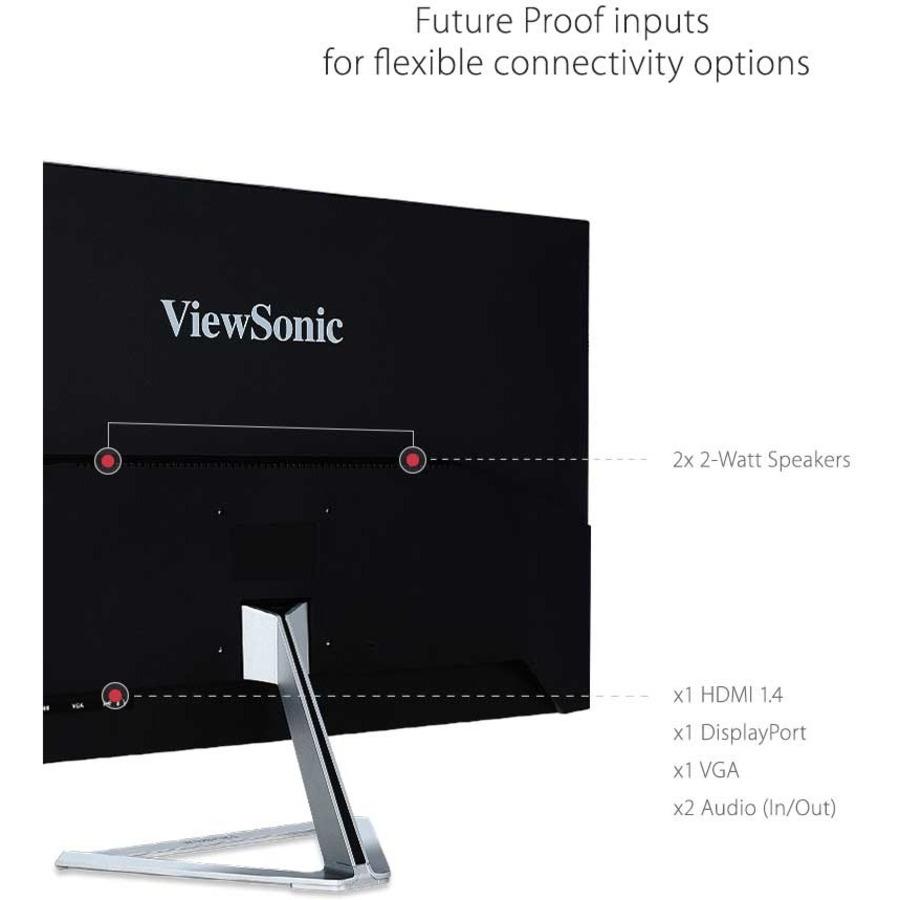"Viewsonic VX3276-mhd 31.5"" Full HD LED LCD Monitor - 16:9 - Metallic Silver_subImage_9"