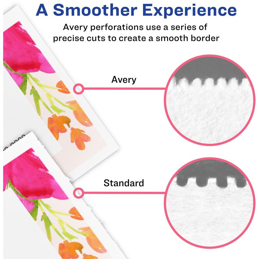 avery u00ae blank printable perforated raffle tickets