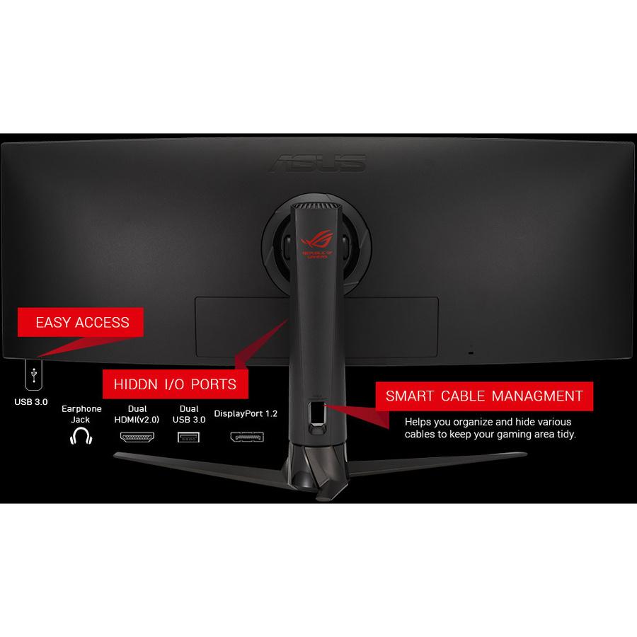 "Asus ROG Strix XG43VQ 43.4"" UHD Curved Screen WLED Gaming LCD Monitor - 32:10_subImage_10"