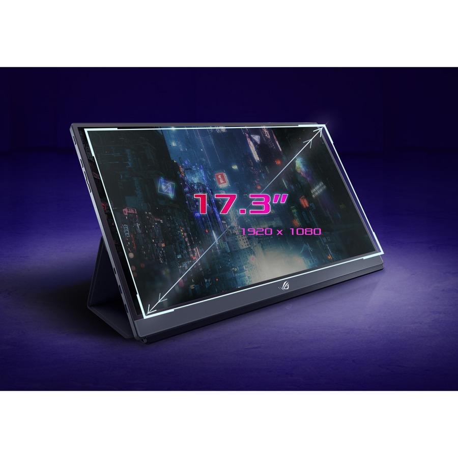 "Asus ROG Strix XG17AHPE 17.3"" Full HD Gaming LCD Monitor - 16:9 - Black_subImage_9"