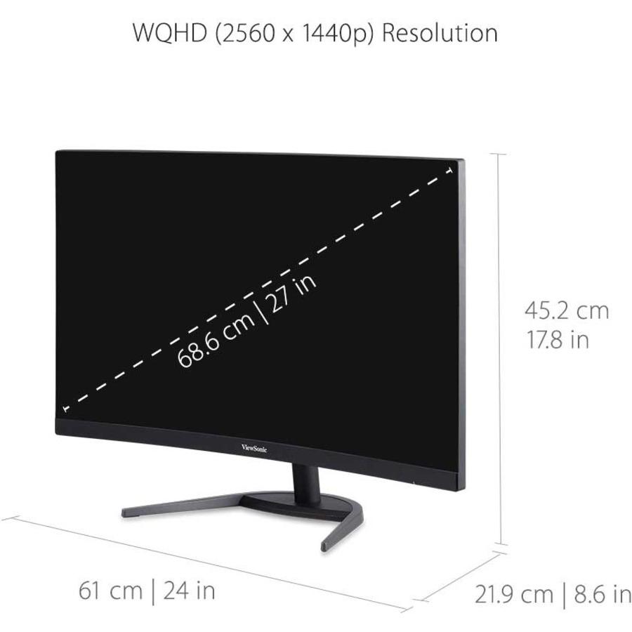 "Viewsonic VX2768-2KPC-MHD 27"" WQHD Curved Screen LED Gaming LCD Monitor - 16:9_subImage_9"