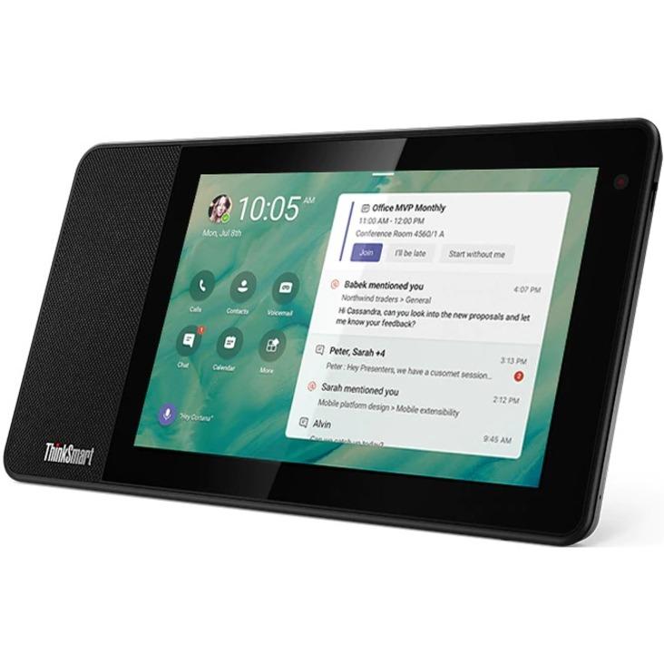 "Lenovo ThinkSmart View ZA840013US Tablet - 8"" HD - 2 GB RAM - 8 GB Storage - Android 8.1 Oreo - Business Black_subImage_10"