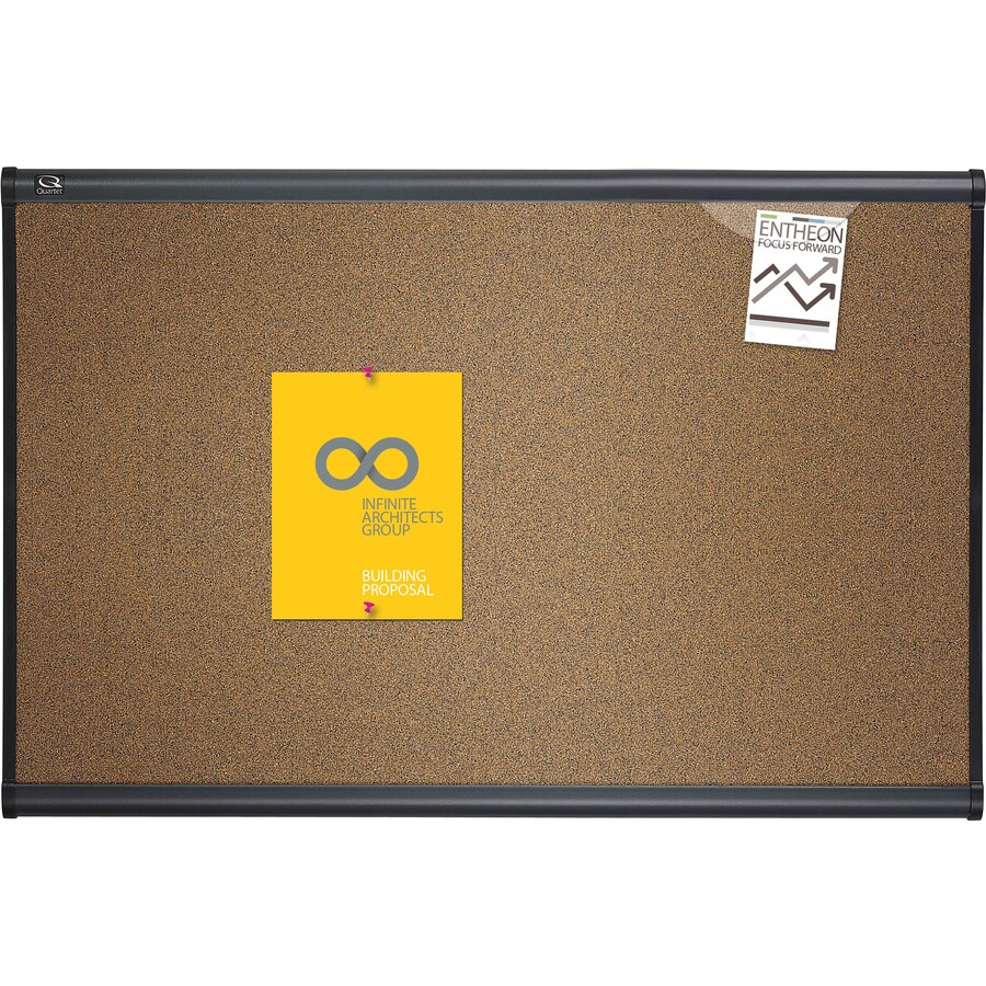 Cork Bulletin Board Quartetr Prestiger Colored Cork Bulletin Board 4 X 3 Graphite