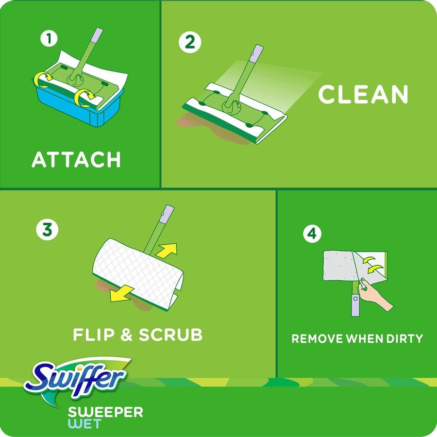 swiffer sweeper wet mop instructions
