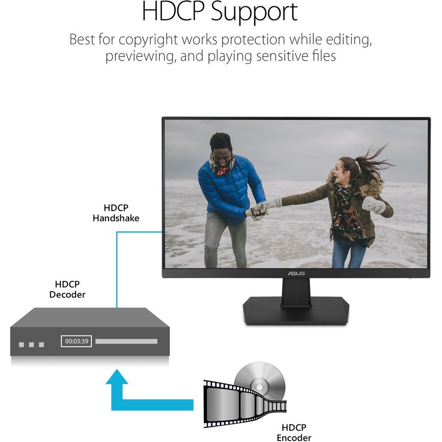 "Asus VA24EHE 23.8"" Full HD WLED Gaming LCD Monitor - 16:9 - Black_subImage_9"