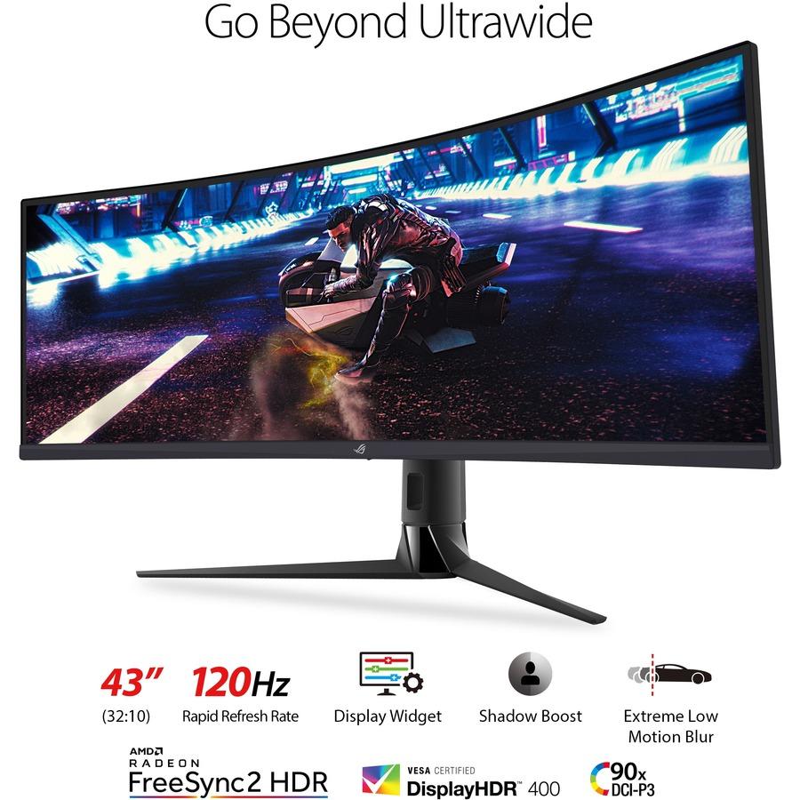 "Asus ROG Strix XG43VQ 43.4"" UHD Curved Screen WLED Gaming LCD Monitor - 32:10_subImage_12"