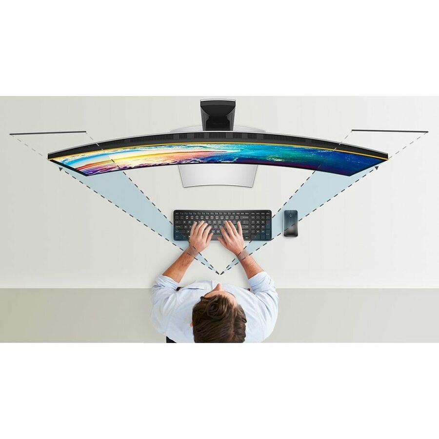 "Dell UltraSharp U3818DW 37.5"" UW-QHD+ Curved Screen Edge WLED LCD Monitor - 21:9 - Black_subImage_14"