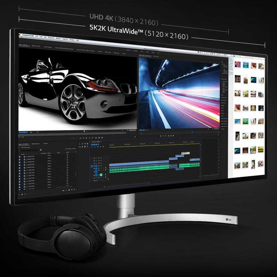"LG Ultrawide 34BK95U 34"" Double Full HD (DFHD) LED LCD Monitor - 21:9 - Black, Silver_subImage_10"