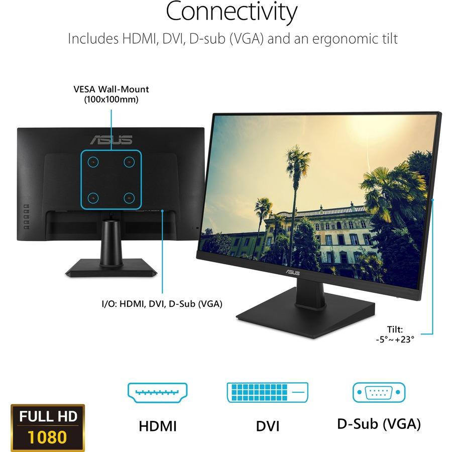 "Asus VA24EHE 23.8"" Full HD WLED Gaming LCD Monitor - 16:9 - Black_subImage_10"