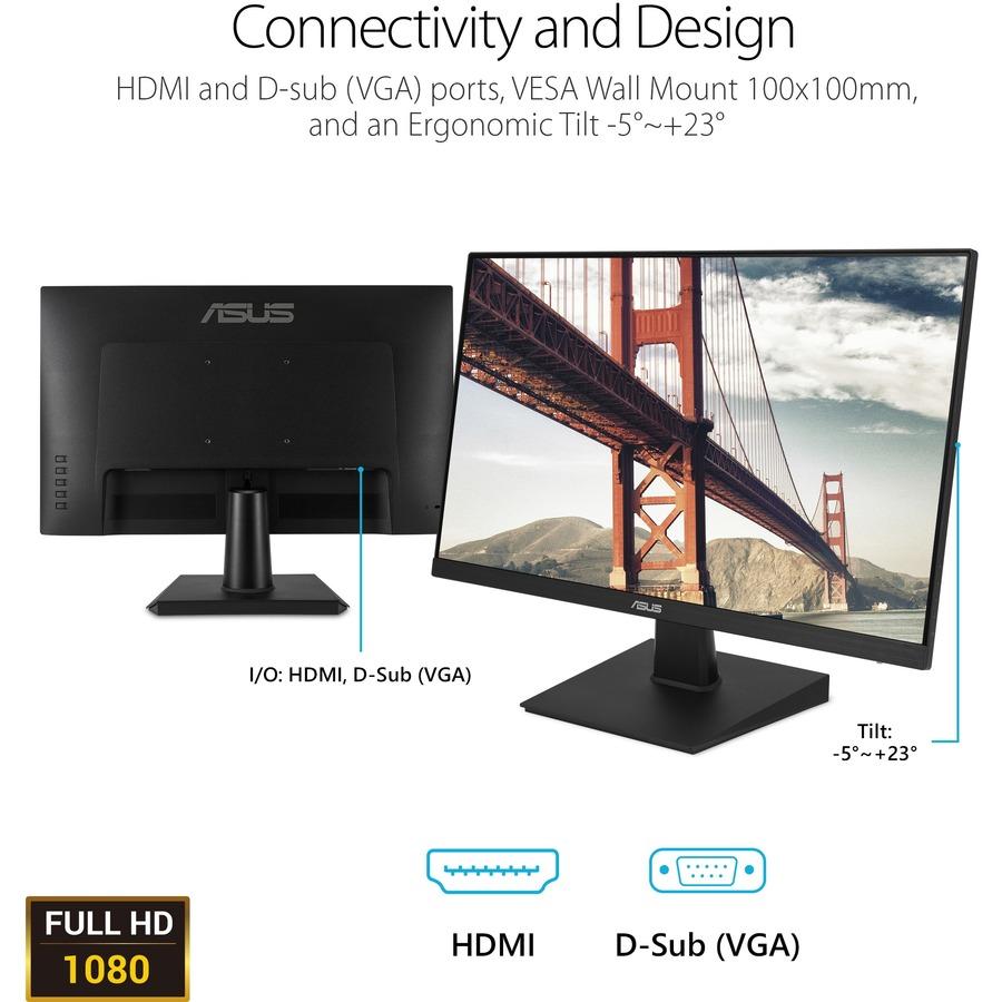 "Asus VA27EHE 27"" Full HD WLED Gaming LCD Monitor - 16:9 - Black_subImage_10"