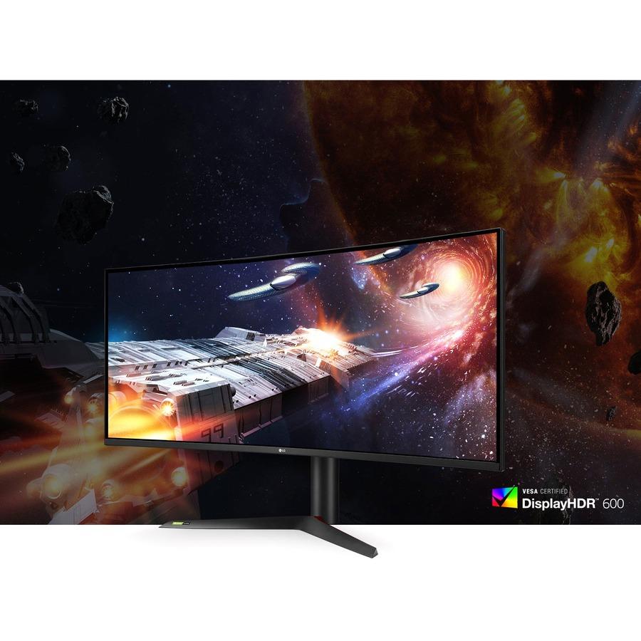 "LG UltraGear 38GN95B-B 37.5"" UW-QHD+ Curved Screen LED Gaming LCD Monitor - 21:9 - Black, White_subImage_11"