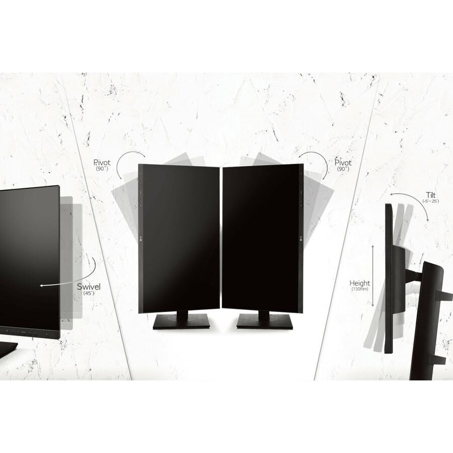 "LG 24BK750Y-B 23.8"" Full HD LED LCD Monitor - 16:9 - Textured Black_subImage_12"
