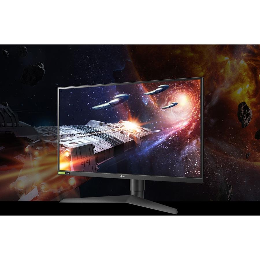 "LG UltraGear 27GN75B-B 27"" Full HD Gaming LCD Monitor - 16:9 - Black, Red_subImage_12"