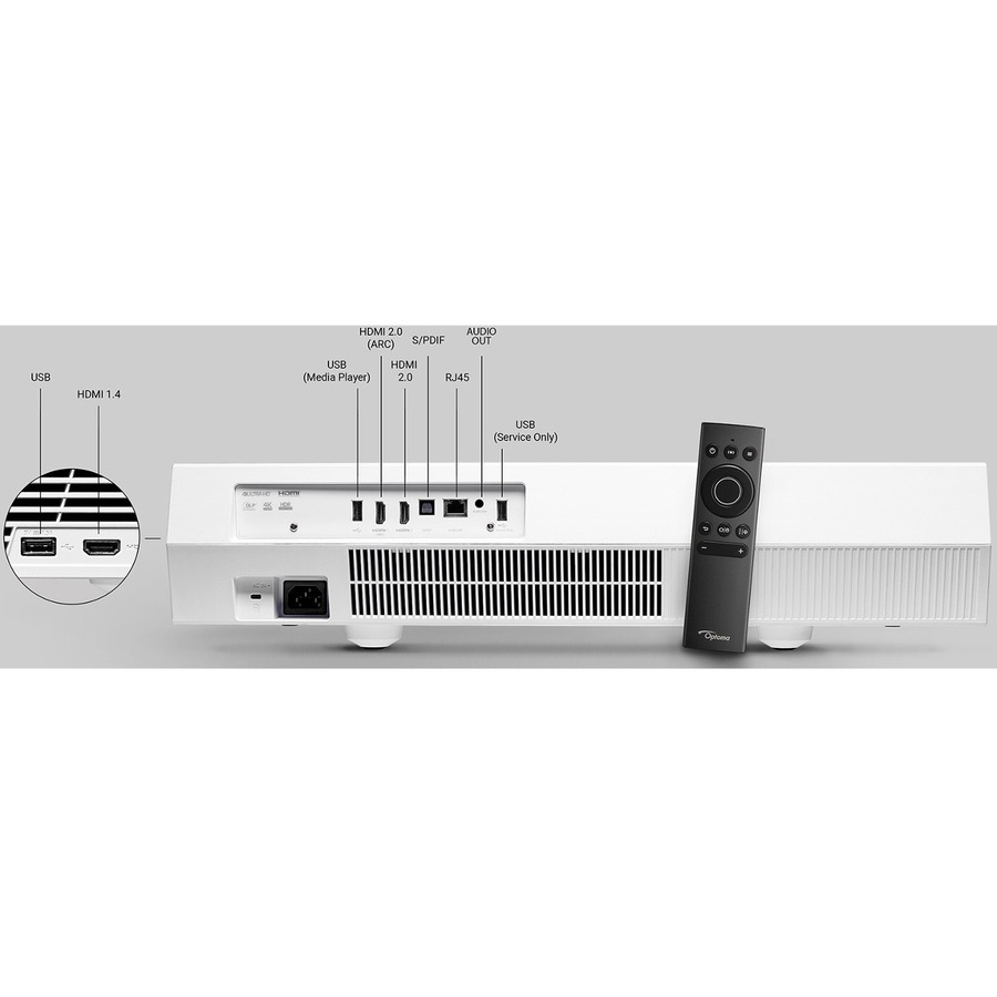 Optoma CINEMAX-P2 3D Ready Ultra Short Throw Laser Projector - 16:9_subImage_15