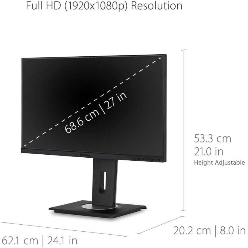 "Viewsonic VG2755 27"" Full HD WLED LCD Monitor - 16:9 - Black_subImage_14"