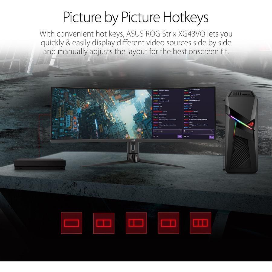 "Asus ROG Strix XG43VQ 43.4"" UHD Curved Screen WLED Gaming LCD Monitor - 32:10_subImage_16"