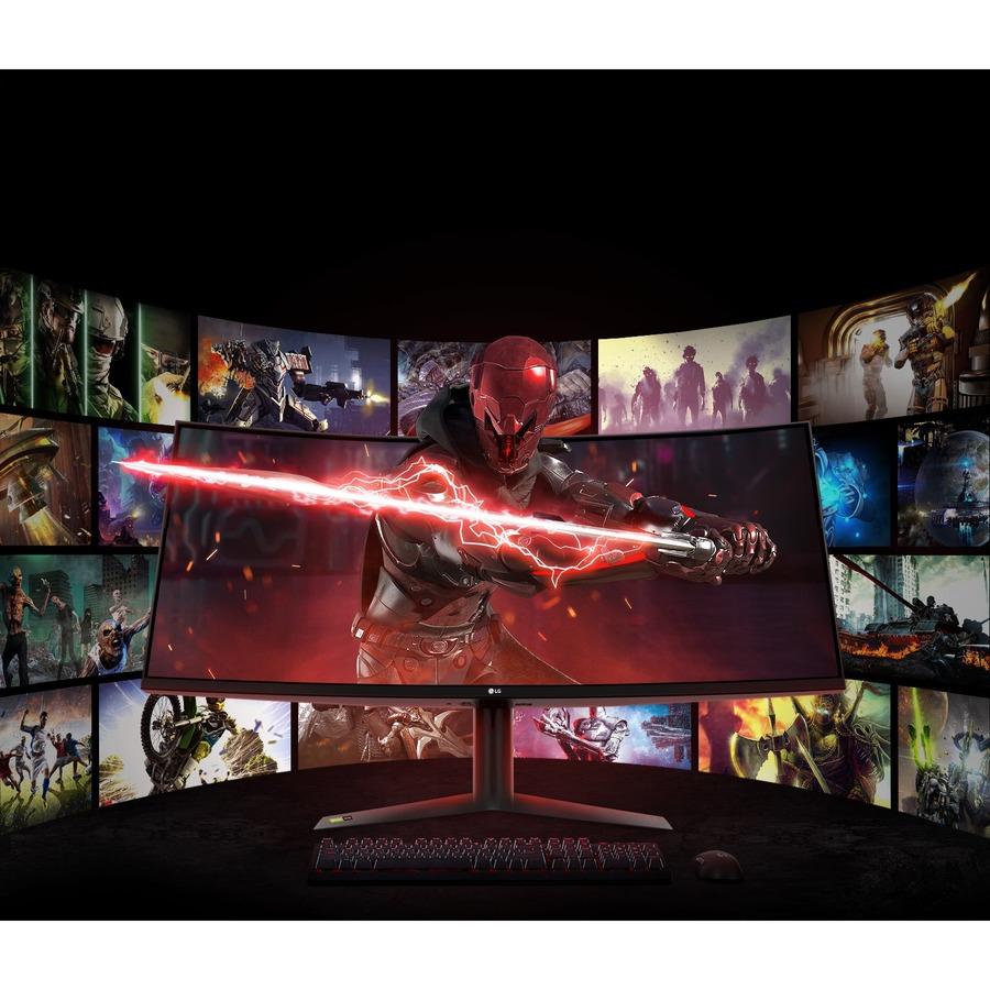 "LG UltraGear 38GN95B-B 37.5"" UW-QHD+ Curved Screen LED Gaming LCD Monitor - 21:9 - Black, White_subImage_14"