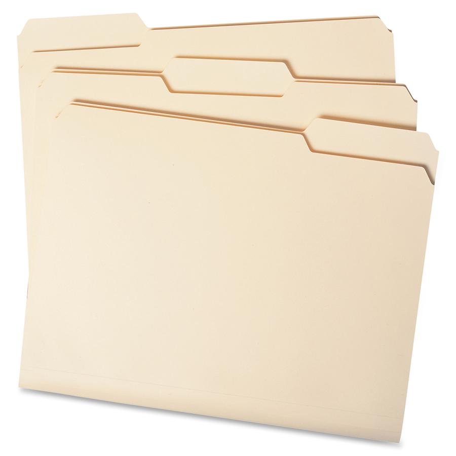 Smead File Folder, 1/3-Cut Left Position, Letter Size, Manila, 100 Per Box (10331)