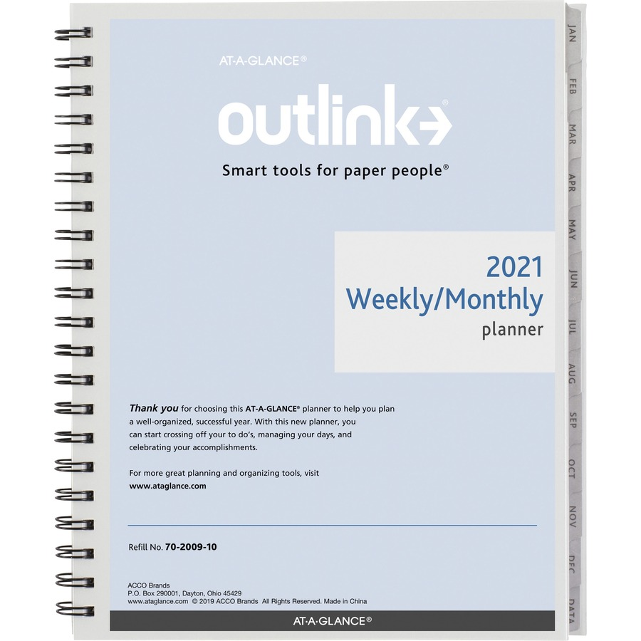 at a glance outlink weekly planner refill tierney office products
